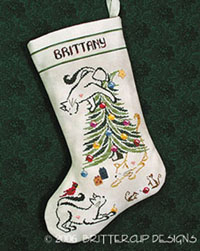 Britty Kitty Christmas Stocking