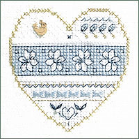 Blue and White Floral Kit