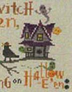 Halloween Branch - Haunted Birdhouse