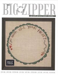 Big Round Zipper #1 - Go With All Your Heart Border