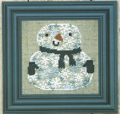 Snowman of Snowflakes Zipper