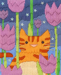 Tiger Long Stitch Cats Collection Kit