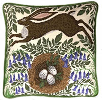 Spring Hare Tapstry Pillow  Kit