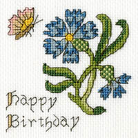 Cornflower Happy Birthday Card Kit