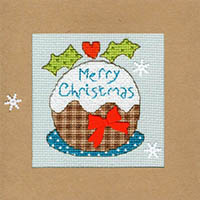 Snowy Pudding Christmas Card Kit