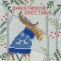 Christmas Moose - Christmas Card  Kit