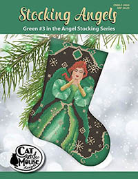Stocking Angel #3 - Green in the Angel