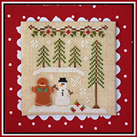 Gingerbread Village #7 - Gingerbread Boy and Snowman
