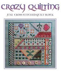 Crazy Quilting - June Block