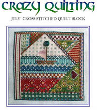 Crazy Quilting - July Block