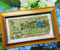 Antique Sampler Fragment 1834