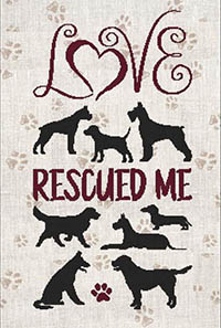 A Dog Saying - Love Rescued Me