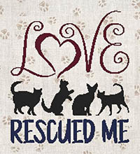 A Cat Saying - Love Rescued Me