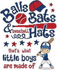Balls Bats & Baseball Hats - That's What Little Boys Are Made Of