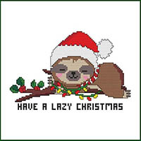 Have a Lazy Christmas Sloth