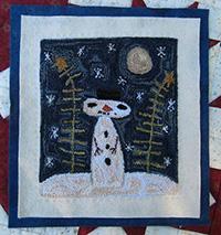 Wintery Snowman Punchneedle