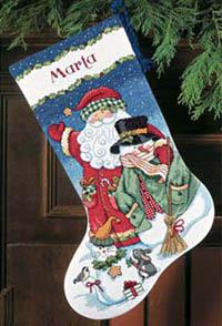 Santa & Snowman Stocking Kit