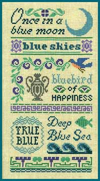 Antique Blue Sampler