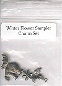 Winter Flower Sampler Charm Set