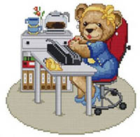 Bears at Work - Secretary Bear