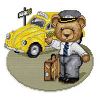 Bears at Work - Taxi Driver
