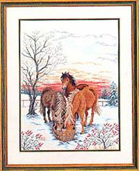 Horses Drinking Water Kit