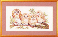 Four Charming Owls Kit
