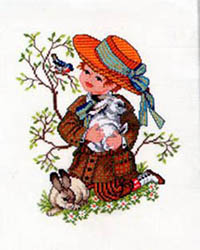 Boy with Rabbit Kit