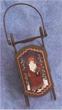 Tiny Twilight Santa Sled Ornament