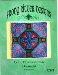 Celtic Flowered Cross Ornament