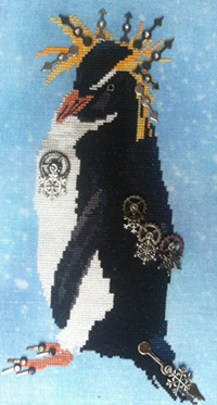 A Steampunk Rock Hopper Penguin