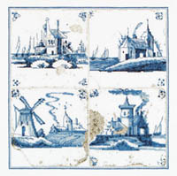 Antique Tiles - Villages  Kit