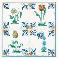 Antique Tiles - Flowers  Kit