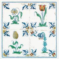 Antique Tiles - Flowers  Kit