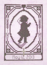 First Communion Girl Silhouette