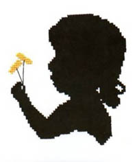 Silhouette Faces - Girl with Dandelion