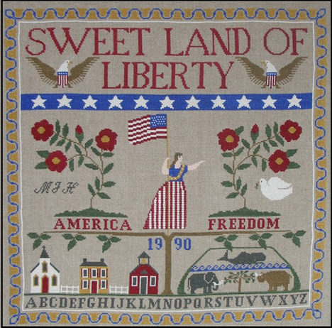 Sweet Land of Liberty Hinzeit Pattern Charmed Samplers III