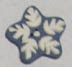 Snowflake - Heart in Hand Button
