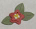 Spring Flower - Heart in Hand Button