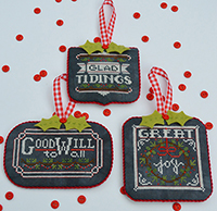 Chalkboard Ornaments Christmas Part 2