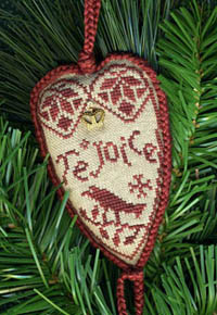 Quaker Rejoice Heart Ornament