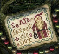 Santa Ornament 2016 - Forget Me Not Santa
