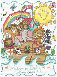Noah's Ark Birth Announcement