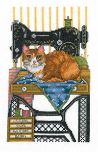 Vintage Sewing Cat