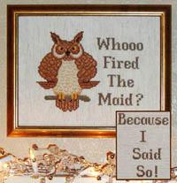 Whooo Fired The Maid