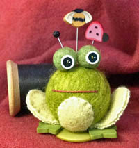 Fiona Frog Button Buddy Kit