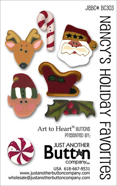 Nancy's Holiday Favorites Button Card