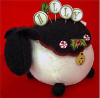 Ewe Look Fabulous for the Holly-Days Pincushion