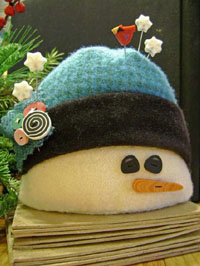 Jabco the Snowman Pincushion