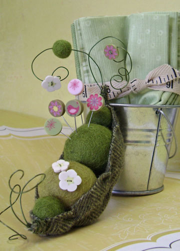 Sweet Pea Pincushion